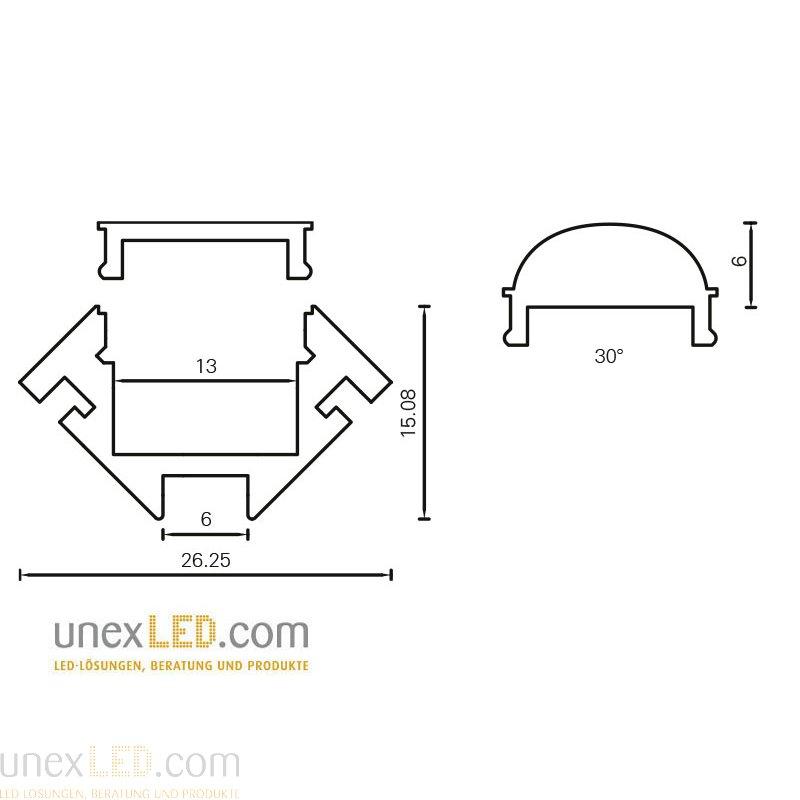 Pokrov za Alu profil razpršen polikarbonat 3000 mm 1