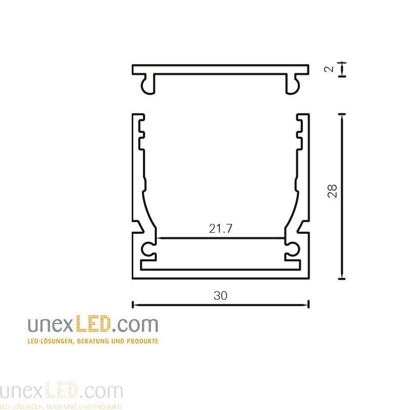Pokrov za profil 30,0 x 28,0 mm in 30,0 x 18,0 mm 5