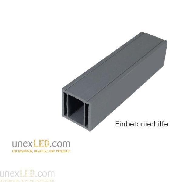 PVC profil za izdelavo utora v betonsko ploščo 1