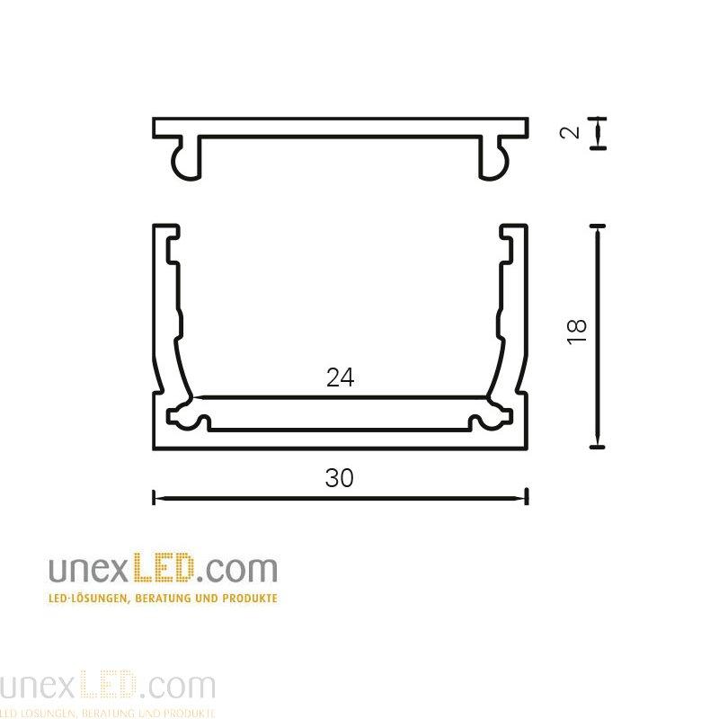 Nosilec 30.0 x 18.0 mm ABS 2