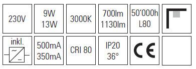 LED stropni cilinder 13W 4