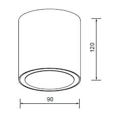 LED stropni cilinder 13W 2