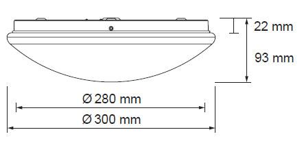 Diamant LED svetilo 14W 1