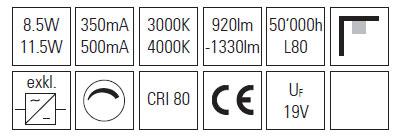 EcoLED luč 11.5W 5