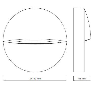 Evida LED okrogla 3