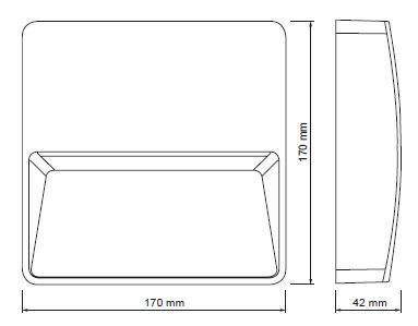 Evida LED kvadrat 3