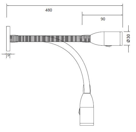 Flex bralna svetilka 2