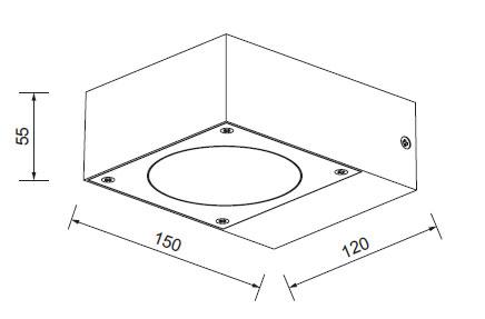 LED kvadrat 3