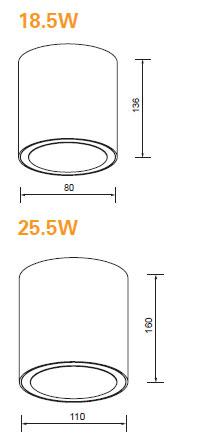 LED cilinder 25,5W 3