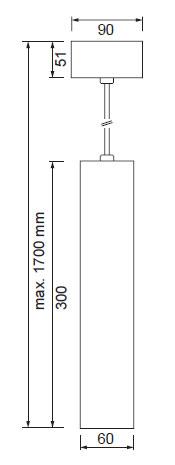 LED obesek 1