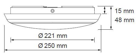 LED oblak 12W 2