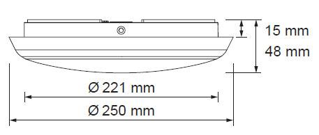 LED svetila oblak 12W z senzorjem 2
