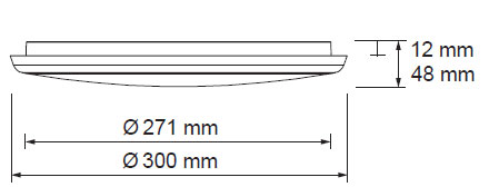 LED svetilo oblak 18W z senzorjem 2