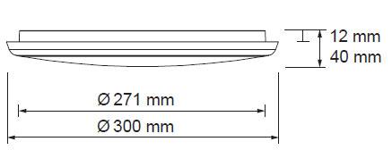 LED svetila oblak 18W 2