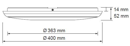 LED svetila oblak kvadrat 25W 2