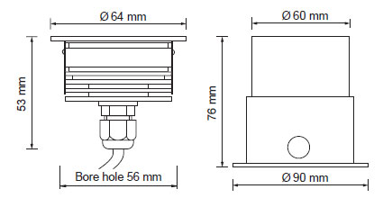 Rivo LED kvadrat 3