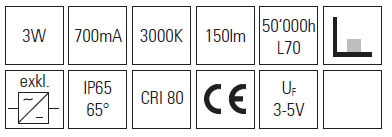 Rivo LED kvadrat 5