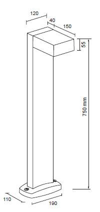 LED kvadrat stebriček 1